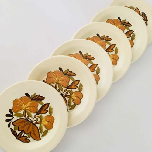 Royal Worcester Palissy - Kismet -  Tea Side Plates x 6